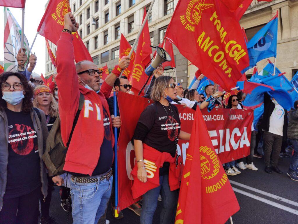 vertenza Elica manifestazione Roma 3